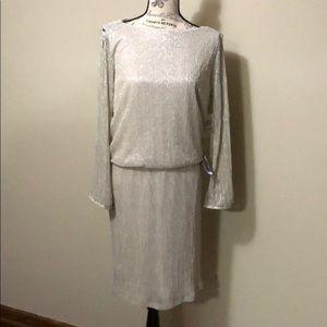 Silver Cold Shoulder Dress